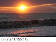 Купить «Морской вечерний пейзаж во время шторма», фото № 1155118, снято 19 сентября 2008 г. (c) Георгий Солодко / Фотобанк Лори