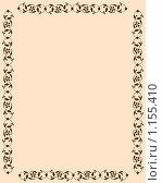 Фоновое изображение персикового тона, обрамленное коричневыми цветами. Стоковая иллюстрация, иллюстратор Бридько Анна / Фотобанк Лори