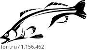 Стилизованное черно-белое изображение рыбы. Стоковая иллюстрация, иллюстратор Карлов Сергей / Фотобанк Лори