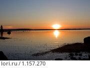 Купить «Закат над заливом», фото № 1157270, снято 2 мая 2009 г. (c) Евгений Селиванов / Фотобанк Лори