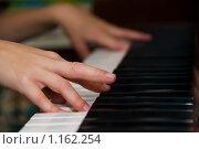 Купить «Игра на пианино», фото № 1162254, снято 18 сентября 2009 г. (c) Дмитрий Калиновский / Фотобанк Лори