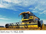 Купить «Комбайн в поле», фото № 1162334, снято 16 октября 2009 г. (c) Дмитрий Калиновский / Фотобанк Лори