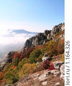 Пейзаж с небом и облаками в Крымских горах. Стоковое фото, фотограф Виктор Шмыголь / Фотобанк Лори
