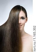 Купить «Портрет девушки с длинными волосами», фото № 1165302, снято 29 сентября 2009 г. (c) Константин Юганов / Фотобанк Лори