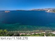 """Вид с веранды отеля """"Dubrovnik Palace"""" на Адриатическое море (2009 год). Стоковое фото, фотограф Сергей Бесчастный / Фотобанк Лори"""