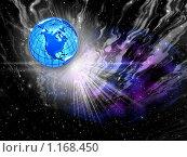 Купить «Космический  фон для дизайна», иллюстрация № 1168450 (c) ElenArt / Фотобанк Лори