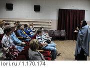 Купить «Киноактриса Ольга Гобзева  выступает перед зрителями  на Шукшинском кинофестивале», эксклюзивное фото № 1170174, снято 24 июля 2009 г. (c) Free Wind / Фотобанк Лори