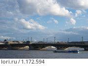 Благовещенский мост (2009 год). Стоковое фото, фотограф Антон Тимохин / Фотобанк Лори