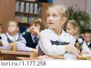 Купить «Дети в школе на уроке», фото № 1177258, снято 2 октября 2009 г. (c) Оксана Гильман / Фотобанк Лори