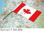 Купить «Флаг Канады на карте», фото № 1181654, снято 31 декабря 2006 г. (c) Elnur / Фотобанк Лори