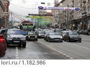 Купить «Москва. Пробки на Тверской», фото № 1182986, снято 29 октября 2009 г. (c) Ярослав Каминский / Фотобанк Лори