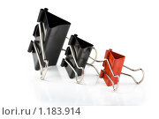 Купить «Зажимы для бумаги», фото № 1183914, снято 21 апреля 2009 г. (c) Вячеслав Рящиков / Фотобанк Лори