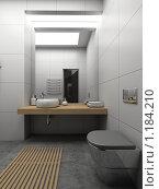 Купить «3D-интерьер ванной комнаты в современном стиле», иллюстрация № 1184210 (c) Майер Георгий Владимирович / Фотобанк Лори