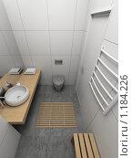 Купить «3D-интерьер ванной комнаты в современном стиле», иллюстрация № 1184226 (c) Майер Георгий Владимирович / Фотобанк Лори