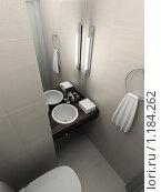Купить «3D-интерьер ванной комнаты в современном стиле», иллюстрация № 1184262 (c) Майер Георгий Владимирович / Фотобанк Лори