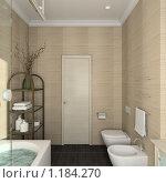 Купить «3D-интерьер ванной комнаты в современном стиле», иллюстрация № 1184270 (c) Майер Георгий Владимирович / Фотобанк Лори