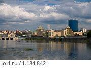 Купить «Набережная реки Миасс, город Челябинск», фото № 1184842, снято 3 июля 2009 г. (c) Григорий Погребняк / Фотобанк Лори