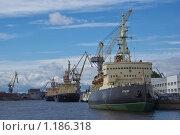 """Ледокол """"Красин"""" (2009 год). Редакционное фото, фотограф Антон Тимохин / Фотобанк Лори"""