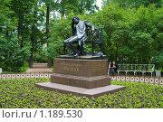 Купить «Памятник А.С.Пушкину. Царское село», фото № 1189530, снято 28 июня 2009 г. (c) Александр Лядов / Фотобанк Лори