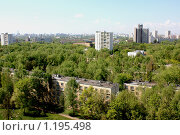 Купить «Вид из окна г. Москва, САО, Бескудниково», фото № 1195498, снято 9 мая 2009 г. (c) Елена / Фотобанк Лори