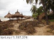 Купить «Вид пляжа г. Нячанг (Вьетнам) после тайфуна Миринаэ.», фото № 1197374, снято 5 ноября 2009 г. (c) Сергей Пономарев / Фотобанк Лори
