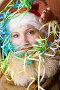 Девушка в шапке Санта-Клауса, фото № 1198426, снято 3 ноября 2008 г. (c) Владимир Сурков / Фотобанк Лори
