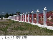 Купить «Забайкалье, п. Амитхаша, Агинский буддийский дацан, ограда», фото № 1198998, снято 17 июля 2009 г. (c) Валерий Лаврушин / Фотобанк Лори
