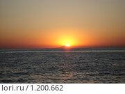Закат и море. Стоковое фото, фотограф Горбатенков Павел / Фотобанк Лори