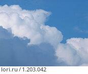 Белые пушистые облака на голубом небе. Стоковое фото, фотограф Ваганова Марина / Фотобанк Лори