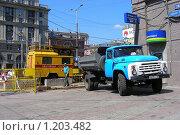 Купить «Москва. Ремонтные работы на Старом Арбате», эксклюзивное фото № 1203482, снято 24 июля 2008 г. (c) lana1501 / Фотобанк Лори