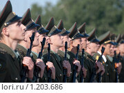 Купить «Строй солдат», фото № 1203686, снято 6 сентября 2009 г. (c) Соловьев Владимир Александрович / Фотобанк Лори