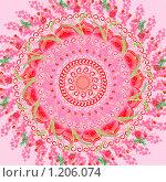 Купить «Красная мандала», иллюстрация № 1206074 (c) Ольга Савченко / Фотобанк Лори