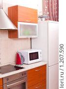 Купить «Кухонный интерьер», эксклюзивное фото № 1207590, снято 10 ноября 2009 г. (c) Juliya Shumskaya / Blue Bear Studio / Фотобанк Лори