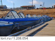 Купить «Лодки у понтона», эксклюзивное фото № 1208054, снято 7 апреля 2009 г. (c) Алёшина Оксана / Фотобанк Лори