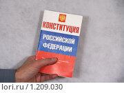 Купить «Конституция России», фото № 1209030, снято 12 ноября 2009 г. (c) Александр Секретарев / Фотобанк Лори