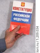 Купить «Конституция России», фото № 1209034, снято 12 ноября 2009 г. (c) Александр Секретарев / Фотобанк Лори