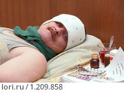 Купить «Больной мужчина», фото № 1209858, снято 12 ноября 2009 г. (c) Михаил Яковлев (ktynzq) / Фотобанк Лори