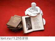 Поэт и книги (2009 год). Редакционное фото, фотограф Куликова Вероника / Фотобанк Лори