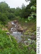 Купить «Горный ручей на вулкане Дзендзур, Камчатка», фото № 1212062, снято 6 августа 2006 г. (c) Кузнецов Андрей / Фотобанк Лори