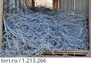 Купить «Демонтированный алюминиевый электропровод», фото № 1213266, снято 10 ноября 2009 г. (c) Геннадий Соловьев / Фотобанк Лори