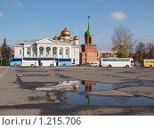 Тула. Вид на Кремль и музей самоваров. (2009 год). Редакционное фото, фотограф Екатерина Петрова / Фотобанк Лори
