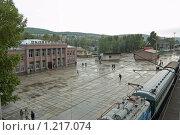 Купить «Сковородино, железнодорожный вокзал», фото № 1217074, снято 27 августа 2006 г. (c) Владимир Горощенко / Фотобанк Лори