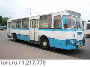 Купить «Автобус ЛИАЗ-677», эксклюзивное фото № 1217770, снято 14 июля 2009 г. (c) Александр Тарасенков / Фотобанк Лори