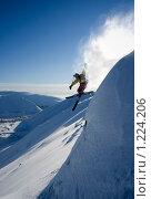 Купить «Прыжок лыжника», фото № 1224206, снято 28 февраля 2009 г. (c) Шестихин Сергей / Фотобанк Лори