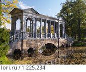 Купить «Мраморный мост в Екатерининском парке Пушкина», фото № 1225234, снято 30 сентября 2007 г. (c) Александр Кузовлев / Фотобанк Лори