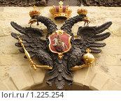 Купить «Герб России», фото № 1225254, снято 22 августа 2007 г. (c) Александр Кузовлев / Фотобанк Лори