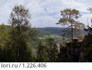 Вид с горы на долину реки Инзер у деревни Ассы. Башкирия. Южный Урал. Стоковое фото, фотограф хлебников алексей / Фотобанк Лори