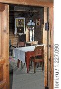 Купить «Кижи. Комната в крестьянском доме.», фото № 1227090, снято 7 сентября 2009 г. (c) Ротманова Ирина / Фотобанк Лори