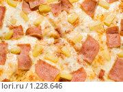 Купить «Пицца с ветчиной и кусочками ананаса», фото № 1228646, снято 13 июля 2009 г. (c) Юлия Сайганова / Фотобанк Лори