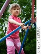 """Купить «Девочка на """"паутинке""""», фото № 1229870, снято 9 июня 2009 г. (c) Losevsky Pavel / Фотобанк Лори"""